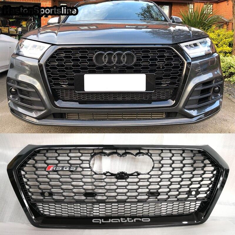 Q5 Quattro RSQ5 Стиль сетки переднего бампера Решетка гвардии для Audi Q5 RSQ5 SQ5 2018 2019