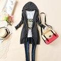 Envío gratis mujeres abrigo de otoño mujer blusa de moda Outwear