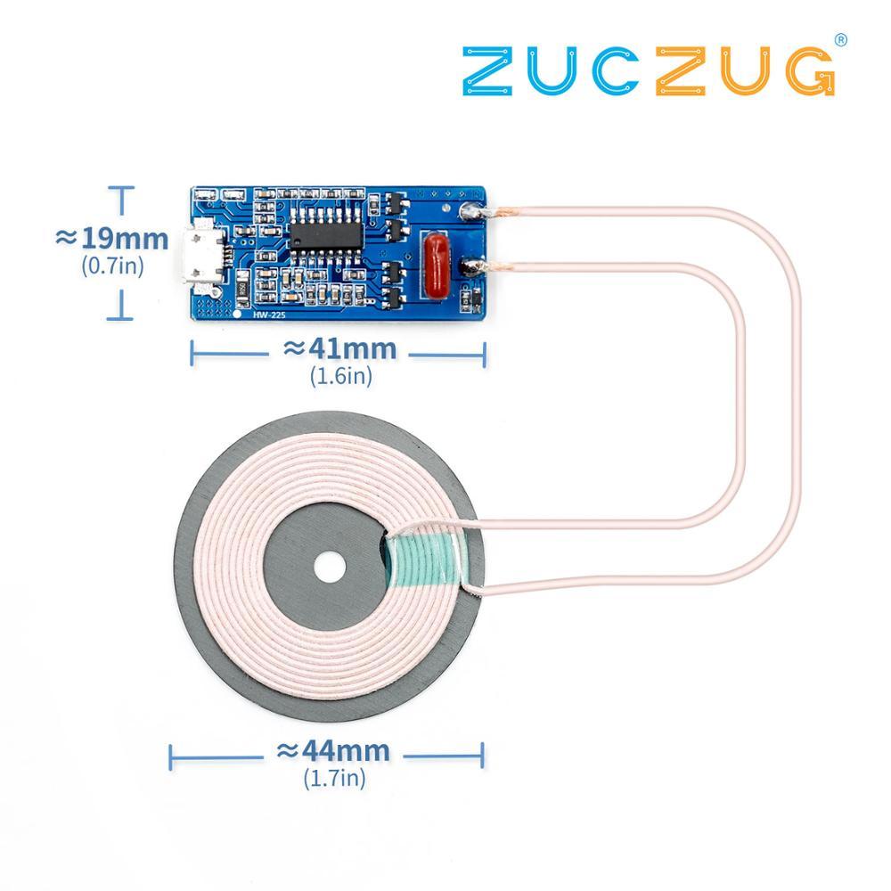 1 шт. модуль беспроводного зарядного устройства передатчик PCBA печатная плата с DIY катушки зарядки 5 Вт Qi стандарт беспроводной зарядки Интегральные схемы      АлиЭкспресс