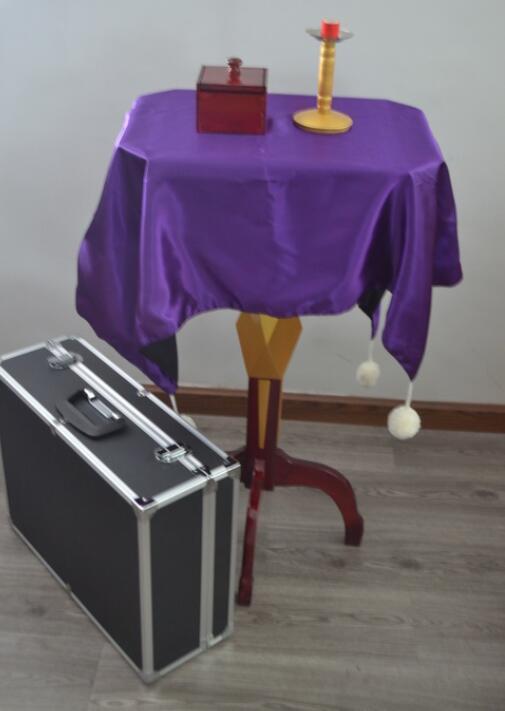 免責による機能フローティングテーブル(抗重力ボックス+金属燭台)マジックのトリック、ステージ、幻想、アクセサリー、メンタリズム、コメディ  グループ上の おもちゃ & ホビー からの 手品 の中 2