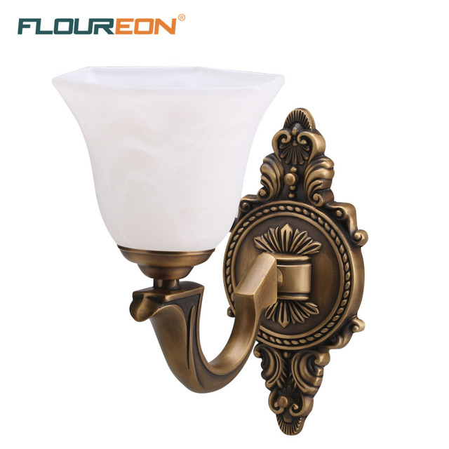 Floureon brass 1 light wall lightretro european style wall lamp floureon brass 1 light wall lightretro european style wall lampantique mozeypictures Images
