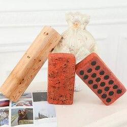 high-elastic cotton core simulation Brick Pillow Tree Stump Wood Pillow Log Pillow Batten Creative Plush Toys Children's Game
