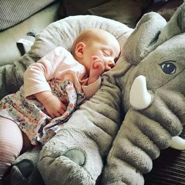 65cm Large Plush Elephant Baby Sleeping Pillow Soft Elephant Baby Sleep Toy