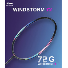 Li-Ning WINDSTORM 72 Badminton Rackets Single Racket Light Professional Carbon Fiber LiNing Rackets AYPM204(China)
