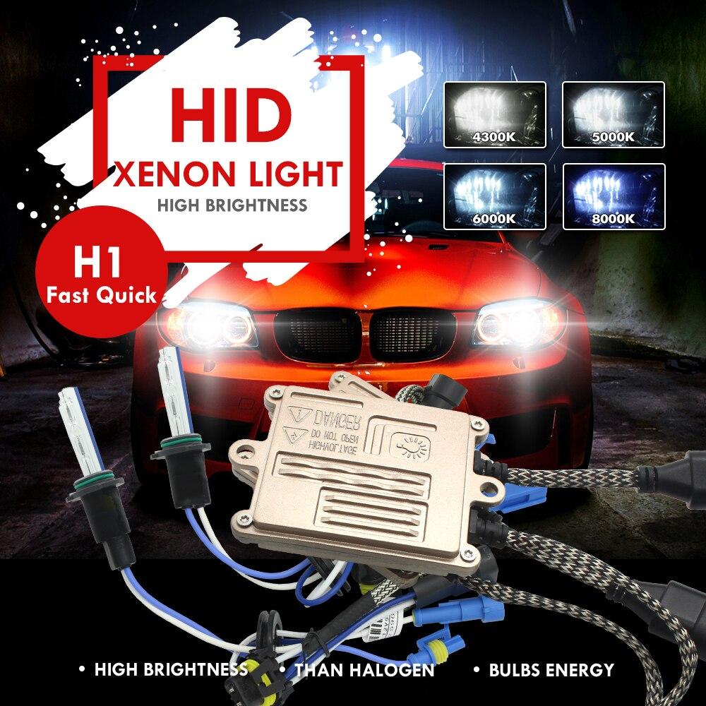 Modifygt H1 12 V 55 W AC Xenon HID Kit H4 H7 H8/H9/H11 9005 HB3 9006 HB4 xenon HID pour phare de voiture 4300 K 6000 K 8000 K