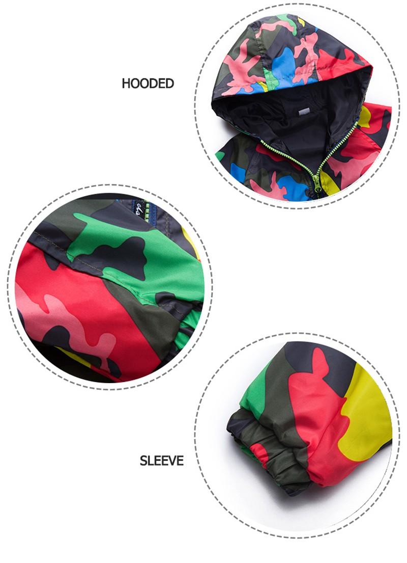 80-140cm Camouflage Spring Outerwear Children Hooded Jacket For Boys Kids Girls Trench Coat Hooded Windbreaker Sport Suit (8)