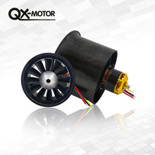 QX-Motor 70mm Electronic Ducted Fan 12 Blades EDF With 2827 KV2600 Brushless Motor and 80A esc For RC Drone Model Parts цена