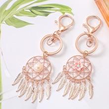 Dream cather Girl heart small pure and fresh metal key chain south Korean dream net bag hang a girls gift