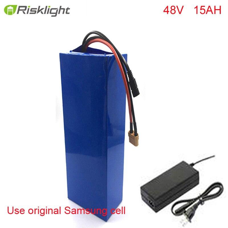 E-bici della batteria 48 v 15ah li pacco batteria agli ioni di kit di conversione della bici bafang 1000 w Per Samsung cellulare