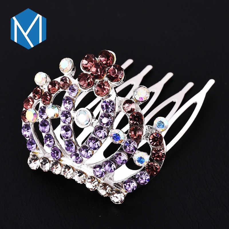 M MISM Mädchen Prinzessin Strass Crown Hairgrip Haarnadeln Haar Zubehör Für Frauen Ornamente Haar Clips Hochzeit Party Bräute