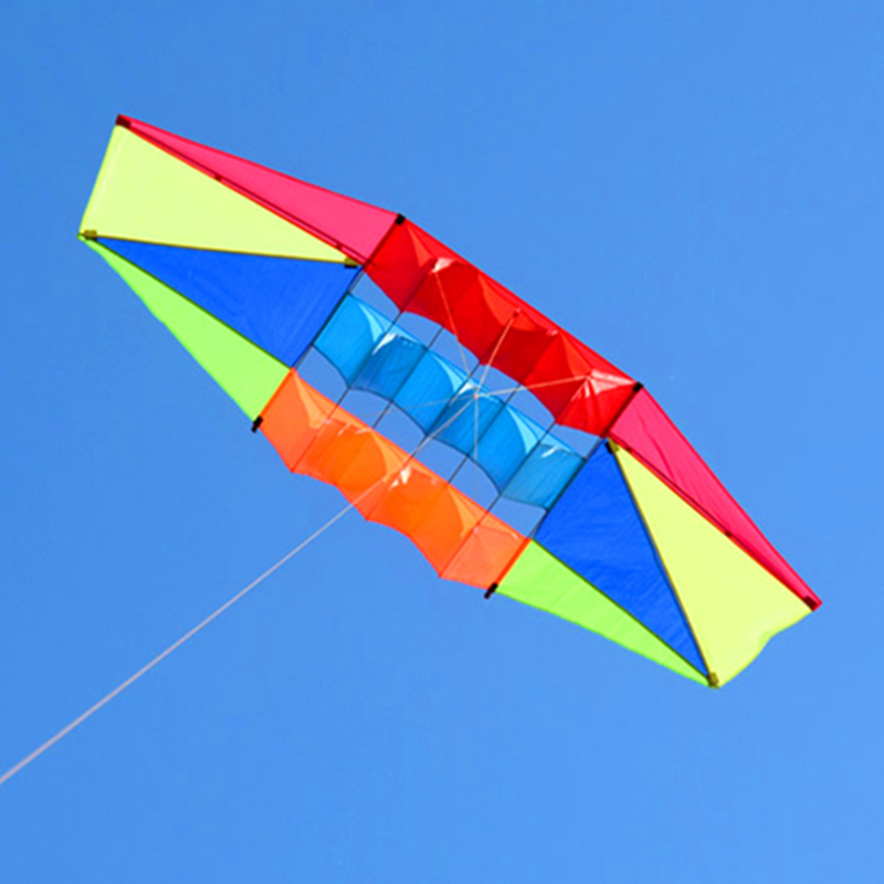 Купить с кэшбэком free shipping 2.5m radar kite with 10m rainbow tails nylon ripstop outdoor toys kites reel bag windsock vliegers weather vane