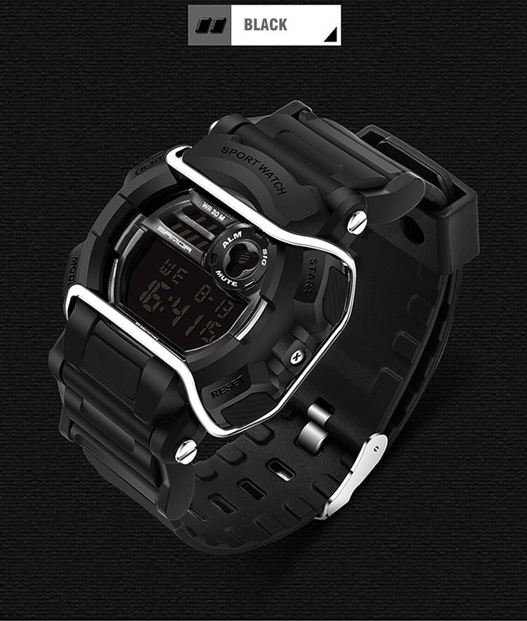 sanda luxury brand led digital watches fashion men\'s sports wristwatches drop shipping (46)