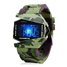 Reloj de los hombres Militares de Camuflaje de Sigilo Aviones LED Multifunción