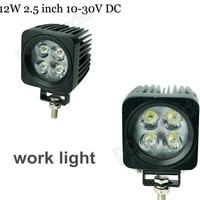 New Arrival Spot Beam Off Road 2pcs 12W LED Work Light 4WD 4X4 SUV ATV Off