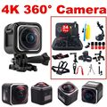 Frete grátis! HD 4 K 1440 P Esportes de Ação Da Câmera Panorâmica de 360 Graus DVR + 24 in1 Kit de Acessórios
