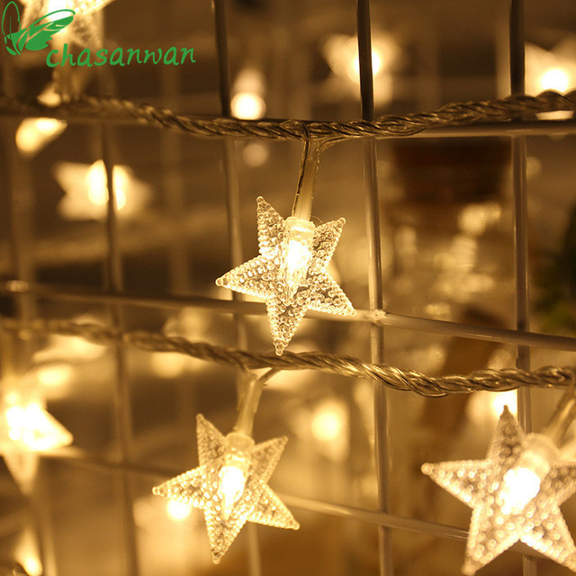 new year natal 1 m 10 light string star battery box christmas decorations for home garland