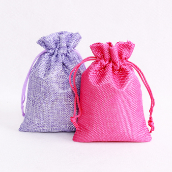 300pcs Vintage Natural Burlap Hessia Gift Candy Bags Wedding Party Decoration Favor Gift Pouch Jute Gift Bags Jewelry Package