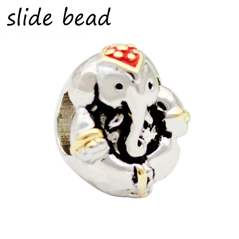 New Slide beads Thailand Elephant Animal Beads Charms Bracelets Fit All Brands, fit Pandora bracelet