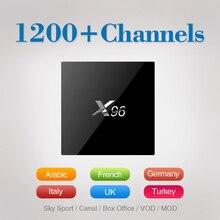 X96 Akıllı TV Kutusu 4 K Android 6.0 Amlogic S905X 2 GB 16 GB Streamming Media Player ile 1 Yıl Ücretsiz Iptv Hesabı Avrupa Arapça Fransızca