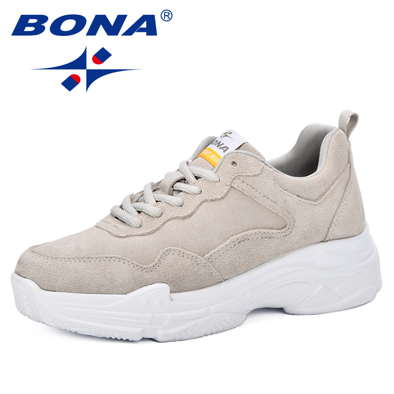 BONA New Classics Style 2019 Spring Summer Women Shoes Comfortable Breathable Fashion Zapatos Mujer Sneakers Shoes High Heels