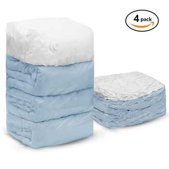 4 PCS Cube Vacuum Storage Bags Jumbo Extra Large Compressed Space Saver Bags for Pillows for Comforter Work with All Cleaner - DISCOUNT ITEM  25 OFF Home & Garden