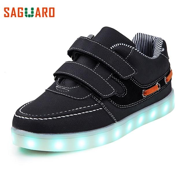 b57a1e7f3 SAGUARO Glowing Zapatillas para Niños Niñas de La Moda 7 Colores de Luz LED  Up Kids