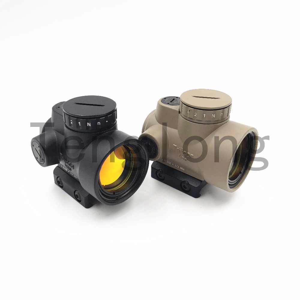 MRO Gaya Red Dot Sight Holographic Sight Reflex Sight Airsoft Mainan dengan (Hitam/Tan)