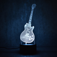 3D Electric Guitar Lamp LED 7 Colorful USB Table Lamp Baby Sleeping Night Light Music Sax