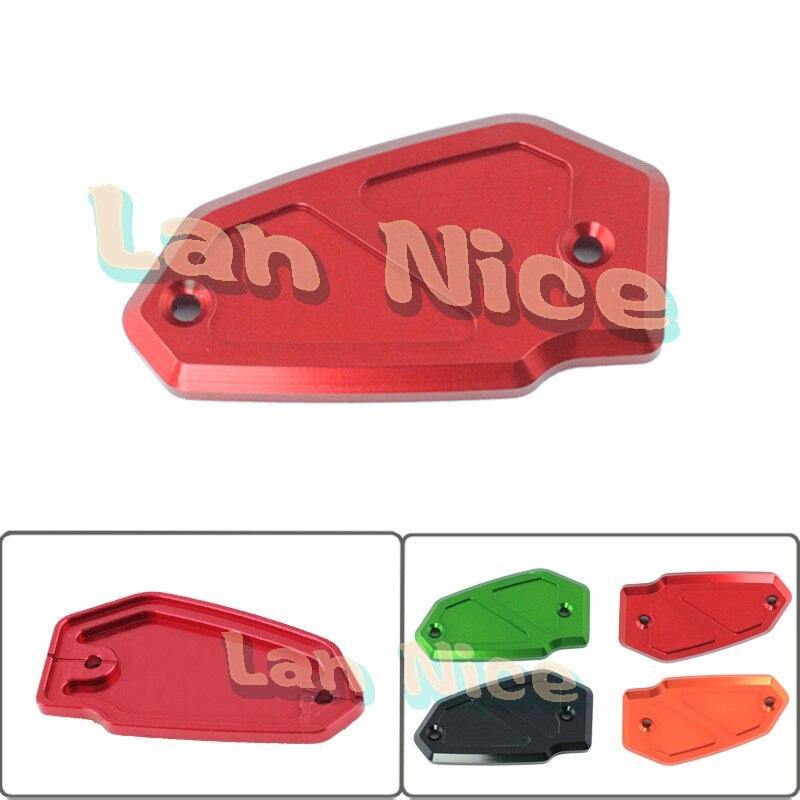 Accesorios de la motocicleta del freno delantero tapa del depósito rojo para kaw
