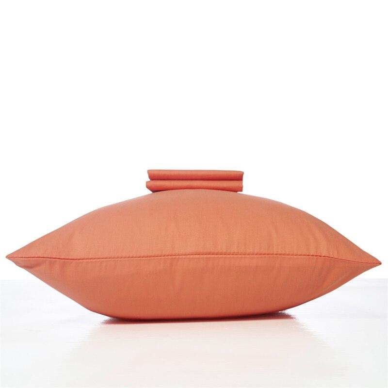 100% Cotton Fabric Solid Color Pillow Case 47*74cm 2pcs Lot on Sale Pink Blue Orange Grey Yellow White Green Purple