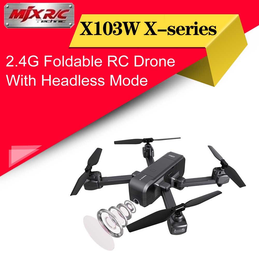 MJX X103W X series 2.4G Foldable GPS RC Drone 1080P Wifi Camera Headless Mode One Key Return Fixed Height