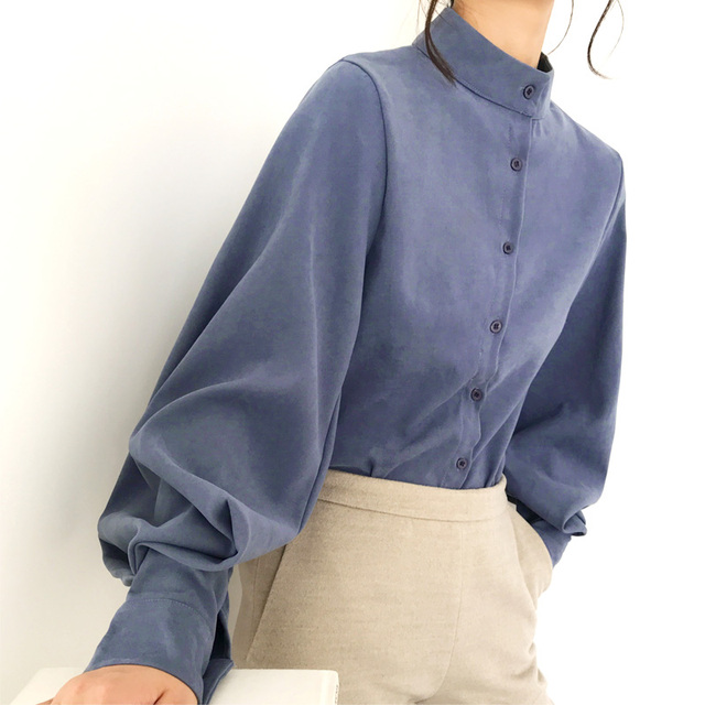 Vintage Stand Collar Blouse 5