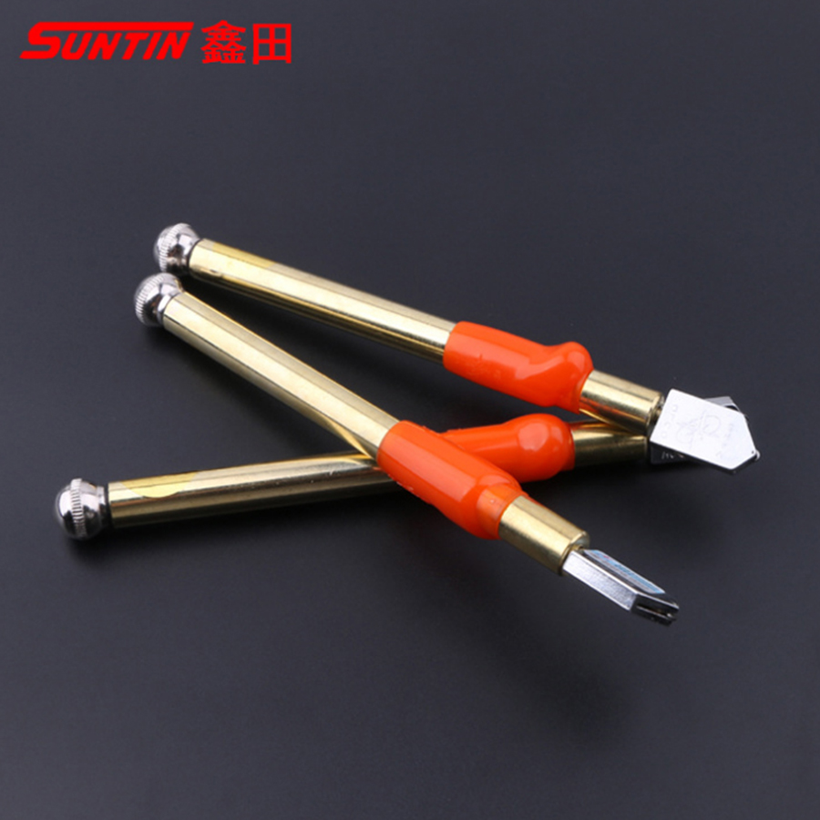 SUNTIN 3-12mm Glass Cutter Roller-Type Diamond Oil Filled Glas Bottle For Tile Cutter Cut Glass Handle Tool Glass Cutting Tools