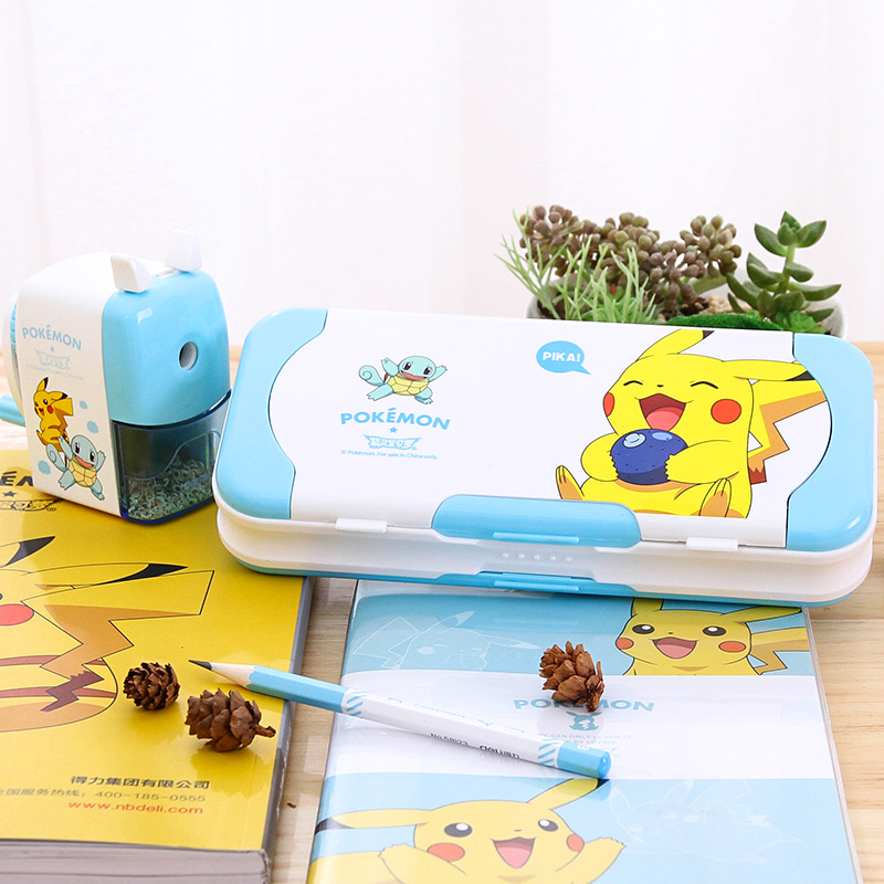 Deli Picacho Cartoon Stationery Box For Children Pencil Box Primary school Pencil Case Girls Pencil Case For School Pencil Cases 220909 school gifts boxes pupil men multifunctional creative disney child pencil box primary school student