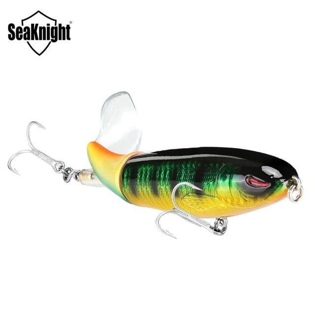 SeaKnight SK050 Whopper Plopper 1 PC 13g/90mm 19g/110mm 39g/130mm Topwater pêche leurre queue rotative VMC crochets bar pêche appât