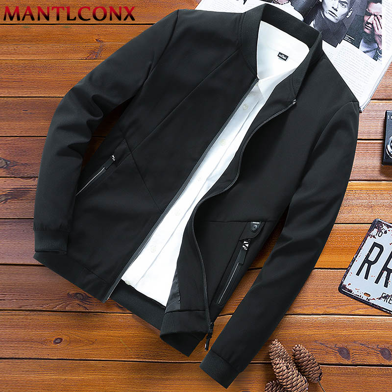 MANTLCONX Plus Size 6XL 7XL 8XL Spring Jacket Men Casual Thin Jacket 2019 Autumn Loose Casual Jackets Men Big Size Streetwear