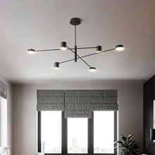 Modern LED Pendant Lights Nordic Dining Room Kitchen Fixtures Hanging Lamp Luminaria Black White Gold luminaire Pendant Lamp modern aluminum iron metal pendant lights gold silver black white nordic designer plated ring pendant lamp for home room pll 769