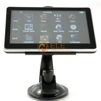 5 inch Car GPS Navigator without Bluetooth MP3 MP4 FM 4GB memorey touch screen 480*272