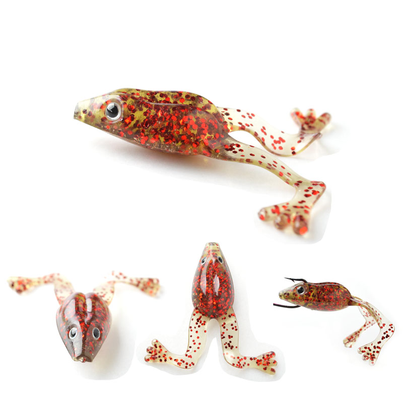 6PCS/Lot TOMA New Arrival Soft Frog Fishing Lures with Legs 5g 60mm Rubber Frog Lure Jig Head Silicone Artificial Soft Bait 5pcs set pesca fishing lures 5cm 3 5g artificial fishing silicone bait frog lure with hook soft fishing frog lures fa 256