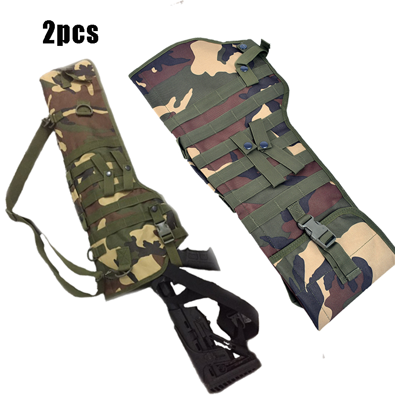 2PCS Tactical Hand Carry Hunting Holster Long Rifle Carrier Scabbard Backpack Tactical Hunting shoulder Bag