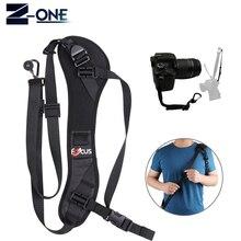 Concentrar F-1 Anti-Slip Shoulder Rápida rápida Sling Belt Correia de Pescoço + corda de segurança para a Câmera DSLR para Canon Nikon Sony Pentax fuji