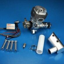 Motor de gasolina DLE61 61CC, un cilindro, dos tiempos, tubo de escape en el lateral