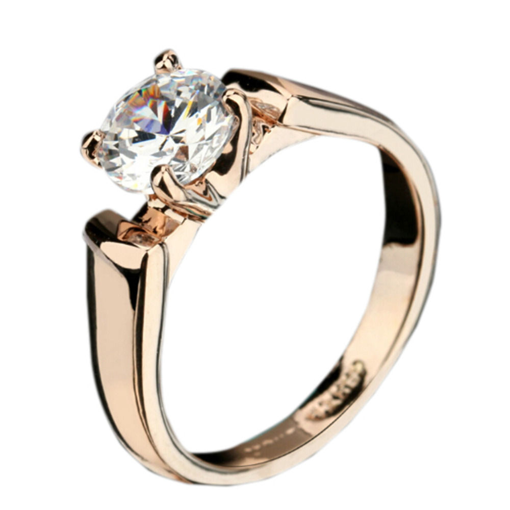 New classical engagement wedding rings cubic zirconia pure for Jewelry wedding rings