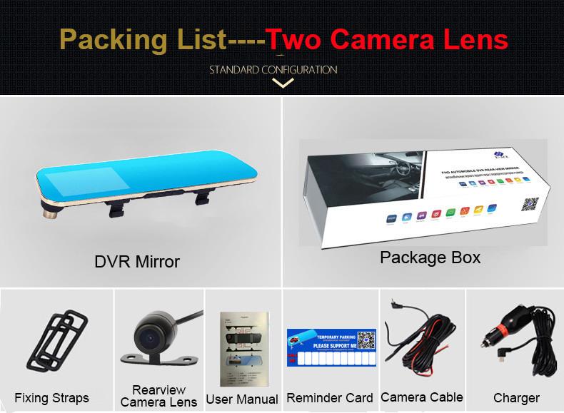 E-ACE Car Dvr Rearview Camera Mirror Auto Dashcam Video Recorder Automobile Full HD1080P Camcorder Dual Camera Lens Registrator 34