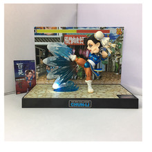 BigBoys Toys 16cm Street Fighter Action Figures The New Challenger Chun Li The Cracked Feet Model Moveable Flashing Sounding