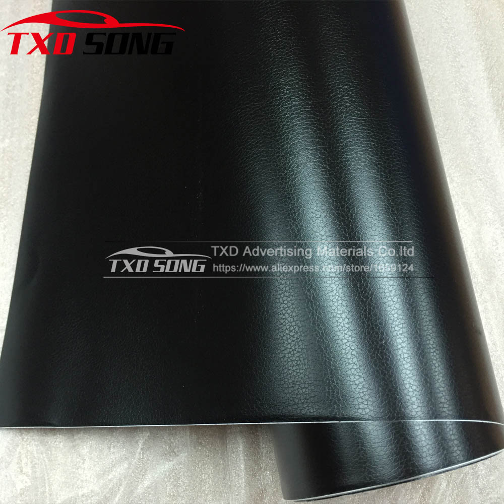 Black Leather Pattern PVC Adhesive Vinyl Film For Auto Car Body Internal Decoration Vinyl Wrap Size:10/20/30/40/50/60X152CM/LOT 50 152cm leather pattern adhesive pvc vinyl film sticker auto car internal external decoration vinyl wrap decal car styling