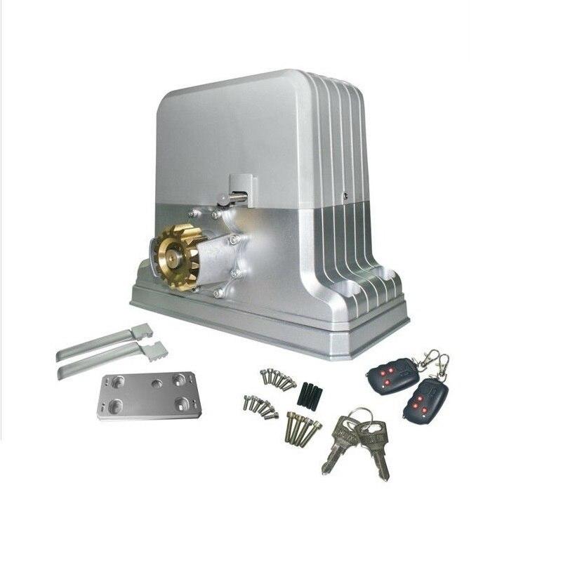 Le Kit d'opérateur de porte coulissante automatique peut conduire au-dessous de 1800kgs de support de vitesse de protal + 4 M + 4 pièces libres supplémentaires de télécommande