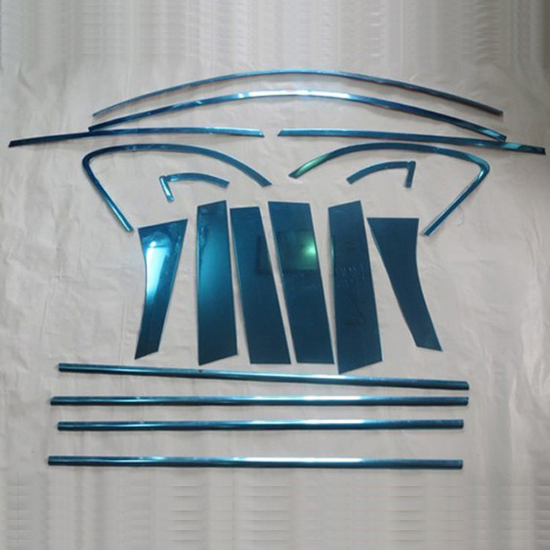For Mitsubishi MMC Outlander Sport RVR ASX 2011 Chrome Steel Window Frame Trim chromium mouldings seal stickers for mitsubishi mitsubishi asx outlander sport rvr 2011 2012 2013 chrome car door handle cover exterior accessories