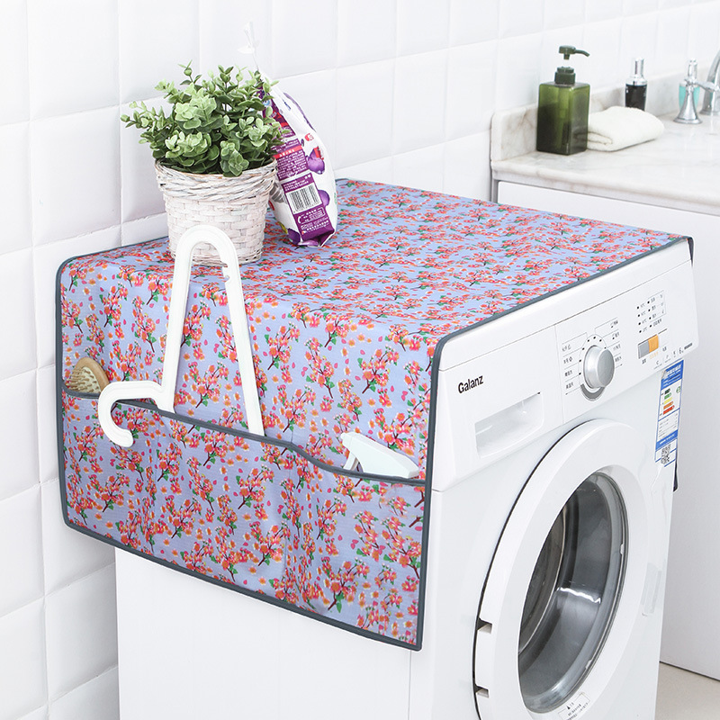 Flower Patterned Waterproof Washing Machine Covers Household Refrigerator Cleaning Home Gear Organizer Storage Bag Case