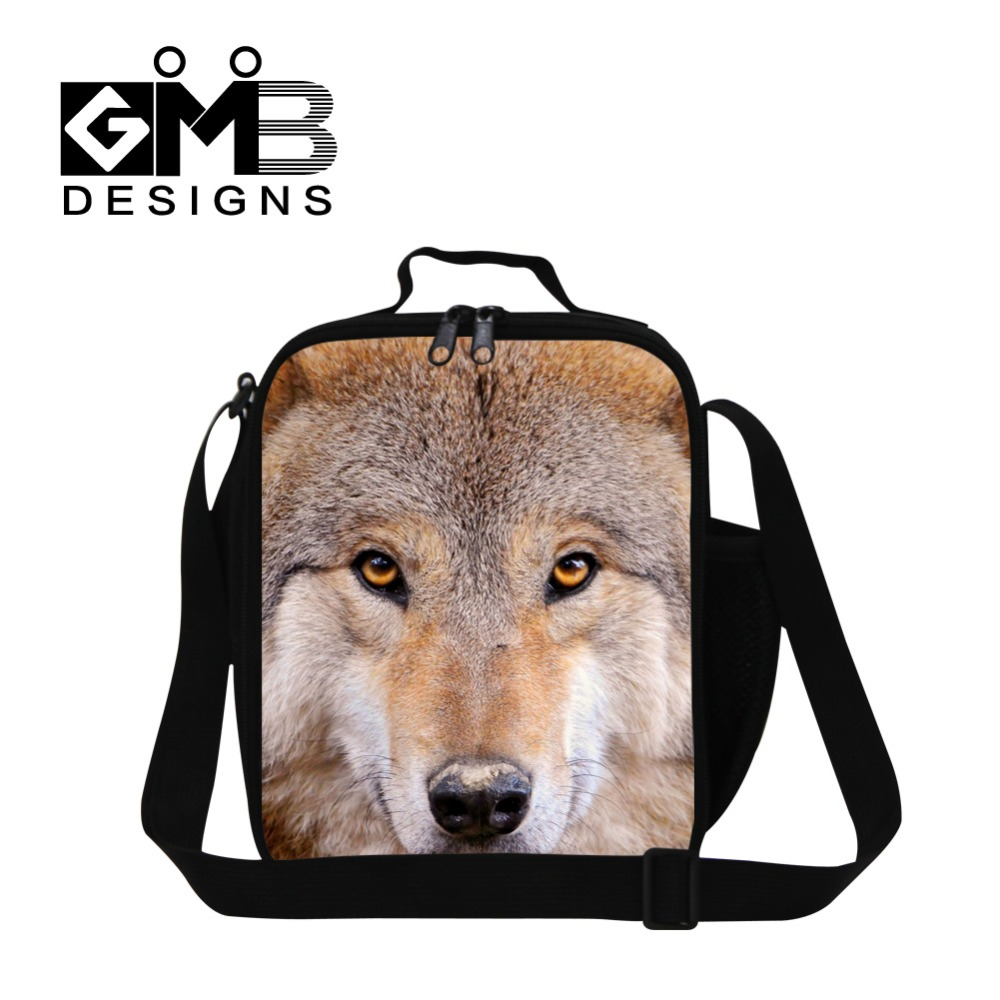 Boys Insulated Lunch container for school,wolf work lunch bag for men,thermal meal bag,doctor who lunch bag,kids reusable bags